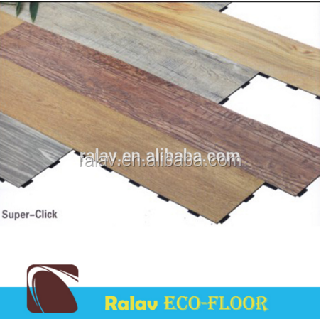 Wood Grain Light Colors Easy Click Pvc Vinyl Flooring
