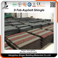 China Roofing Tiles Price Wholesale Roofing Factory Projects Hotel Asphalt Roofing Shingles Blue Red Prices
