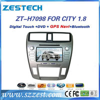 ZESTECH 7 inch 800*480 digital touch screen car DVD GPS for HONDA CITY with dual zone 1.8