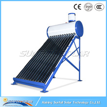 Solar water heater system with 12 glass tubes high quality