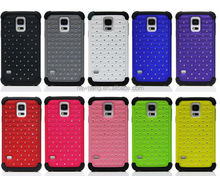 Rhinestone diamond shining lovely crystal star mobile phone case for samsung galaxy s5 I9600