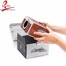 GZ Factory made DIY Cardboard Projector Home Theater Cardboard Mobile Phone Projector smartphone projector 2.0