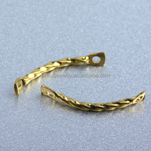Professional Jewelry Findings Manufacturer Custom Brass Jewelry Twisted Connector Rods