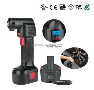 digital cordless tire inflator with auto stop/portable air compressor/rechargeable tire inflator