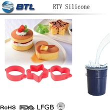 Excellent properties platinum cured silicone for producing food grade products