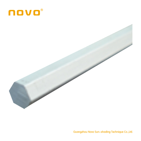 New arrival hollow venetian blinds hexagonal bar/motors for 25mm venetian /pleated /honey comb and roman blinds by NOVO