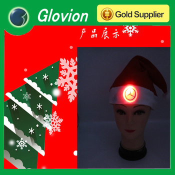 best seller led lighted glow hat christmas hat for promotion christmas santa hats