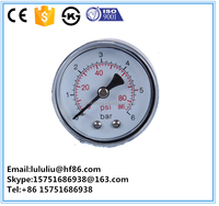Cheap black plastic case back connection dry pressure gauge