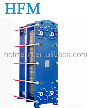 Marine engine, oil cooler, plate heat exchanger