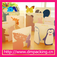 Mini Paper Greeting Card Gift Birthday Thank You Card Cute Cartoon Kids School Office Supplies Message Memo