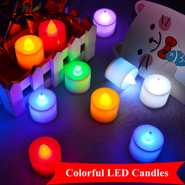 Colorful candle led light waterproof wholesale yankee candles