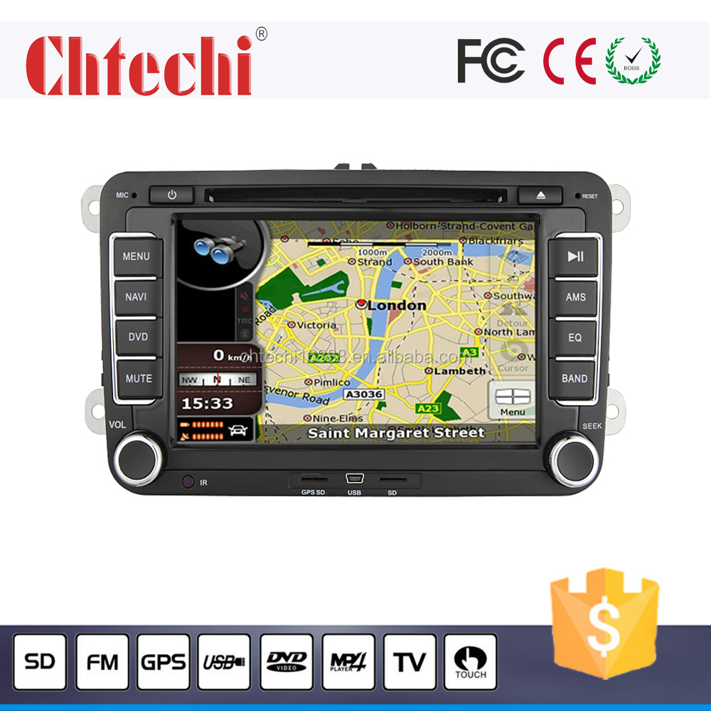 Car dvd player for Volkswagen universal 7inch car dvd navigation with Vehicle gps multimedia player am/fm music mp3 play