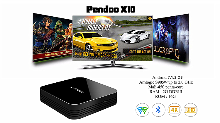 android tv box 4k KDplayer 16.1 quad-core cor-a53 tx5 hd18 android black tv box full hd 1080p video