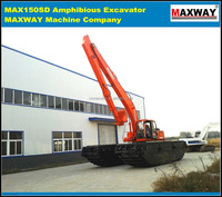 4 Drive Motors Amphibious Excavator Equipped with ISUZU engine, CE , EPA , SGS, ISO , Model: MAX220SD-4