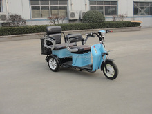 recreational type electric tricycle with two seats