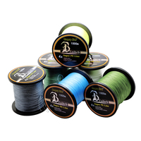 2016 Hot Sale Fishing Line 4x Strands 1000m Braided PE Multi-filament Line for Sale 10lb