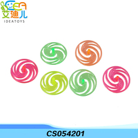Colorful mini plastic spinning top used hard plastic