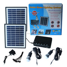 Portable Solar home power lighting and charging kit