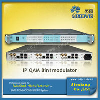Digital Headend IP 32 Multiplexer Scarmbler Qam RF out Modulator