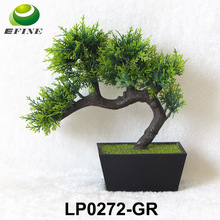 Popular Fake Plastic Flower Pot Pine Tree Artificial Small Potted Plant