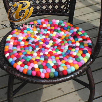 felt ball rug 100% wool of sheep wholesale