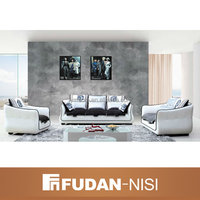 African simple living room black and white leather sofa set designs