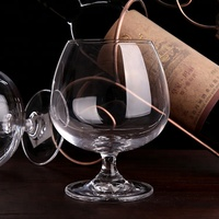 Short Stem Brandy Clear Glass Red Wine Glass