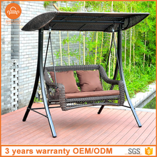 Outdoor Indoor Rattan Hanging Sofa Cheap Swing Hanging Pod Chairs Double
