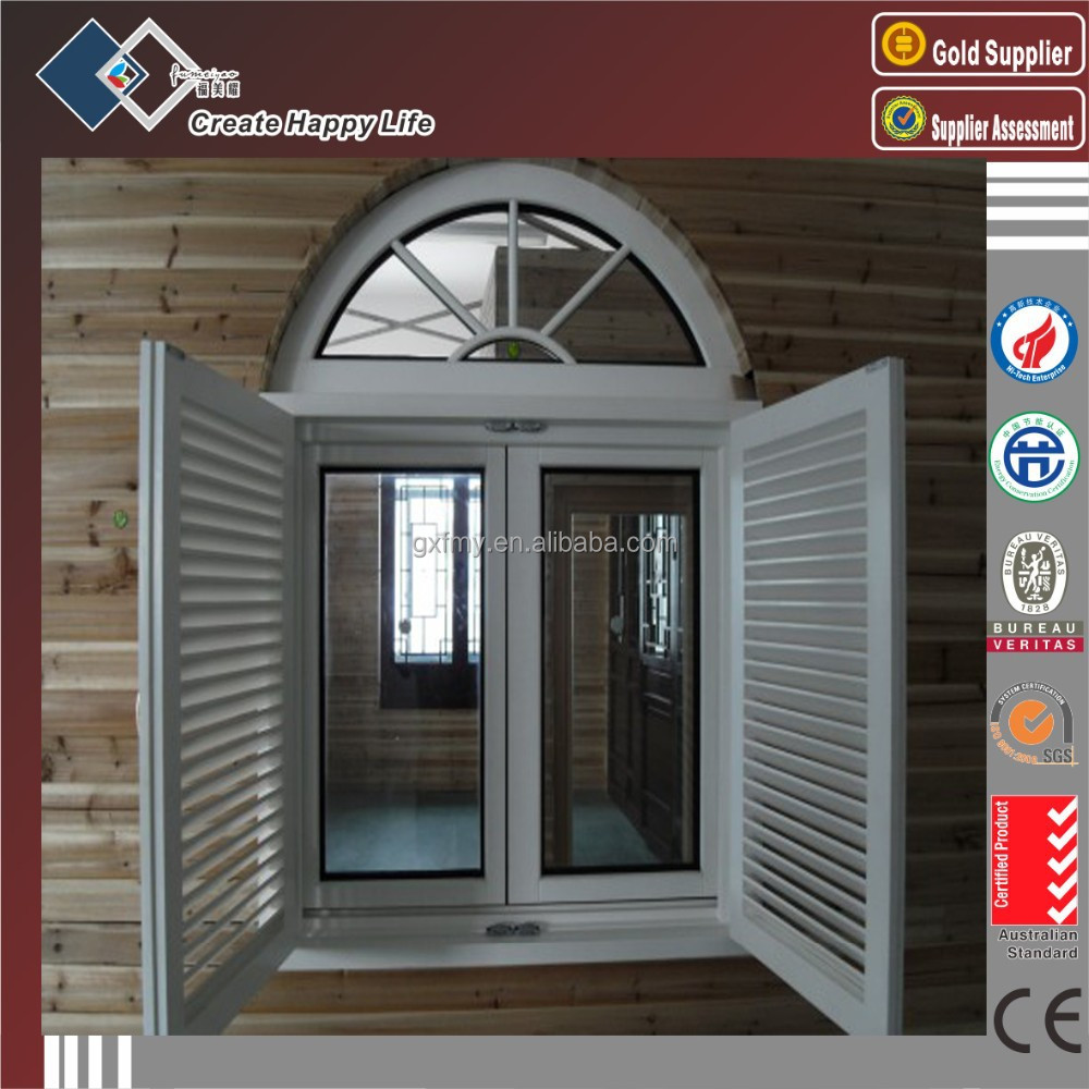 Guangxi factory price aluminum glass louver windows, window blinds for construction