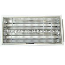 T8 Ceiling Light Louver Fixture longer lifespan Fluorescent Grille lamp