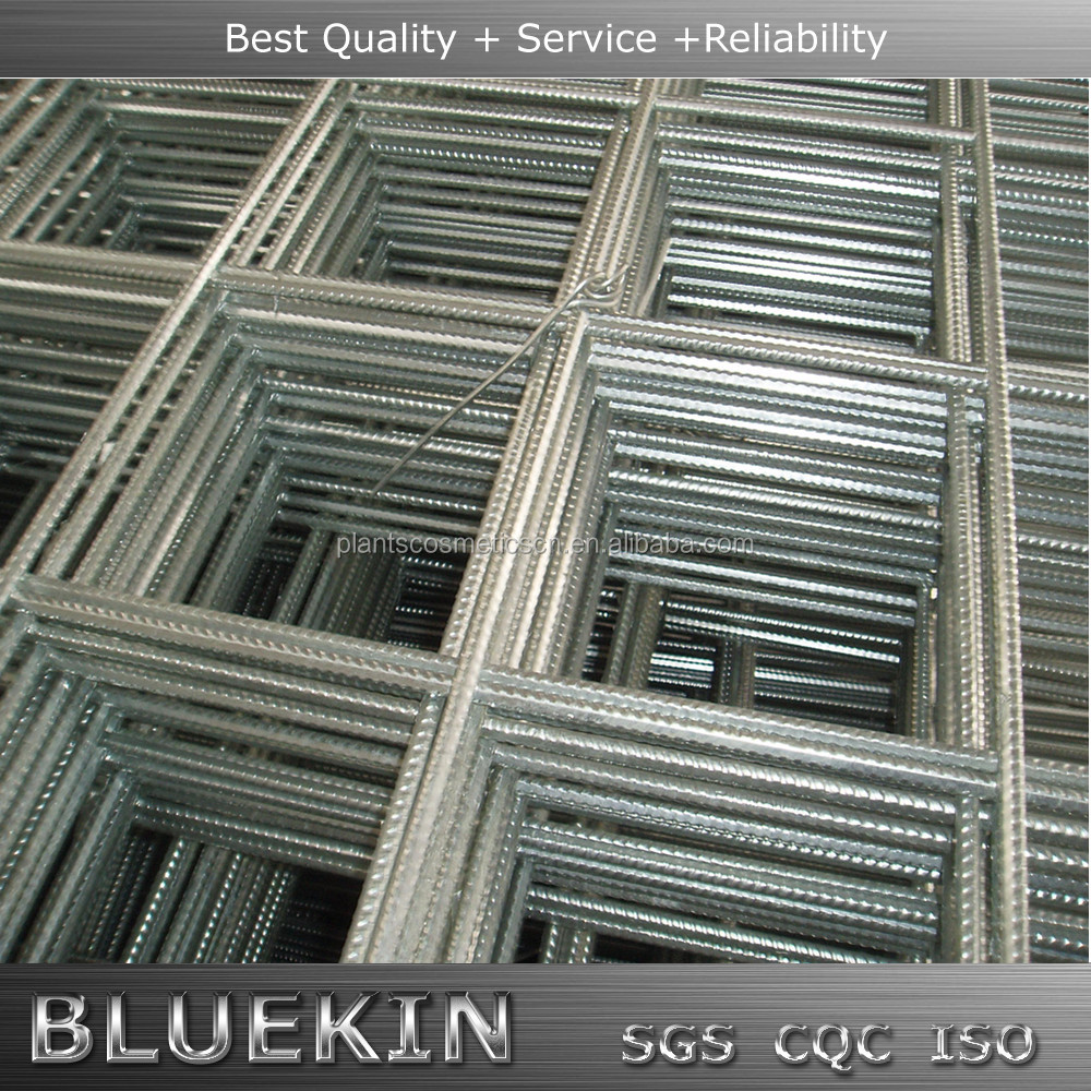 High Tensile Threaded Bars Ribbed Steel Welded Wire Mesh