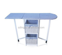 Foldable Clothes Wooden Ironing Board/Ironing Cabinet With Drawers