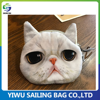 Promotional fashion cute mini animal shape bag ladies coin purse wallet