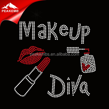Wholesale Make Up Diva Beauty Rhinestone Iron On Transfer in China