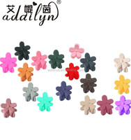Mini flower hair accessories plastic round claws jaw hair clips FZ001B