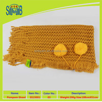 Made In Jiangsu Yellow Crochet Lady