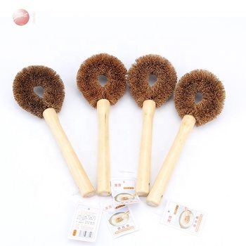 Wholesale good quality bristle pot brush daily coconut cleaning brush
