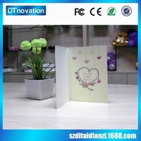 High end handmade valentine day/happy wedding day recordable voice card