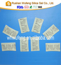 anti humidity product desiccant silica gel bag for footwaer shipping oversea