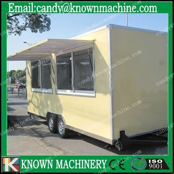 known equipped with air conditioner Spacious new commercial food carts