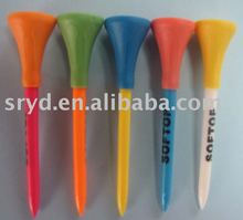 Plastic Golf Tee With Rubber Top