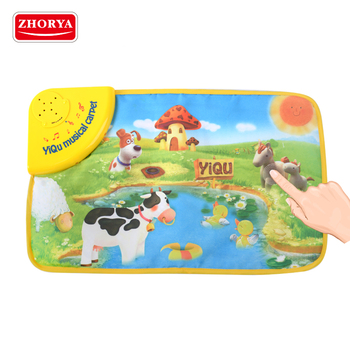 Zhorya baby care toy non toxic anti slip thick farm electronic music play mat
