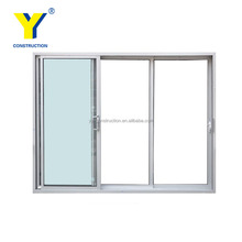 YY aluminium windows AS2047 automatic triple glass sliding door standard door size