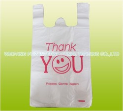 custom logo colourful t-shirt thank you plastic bag