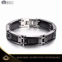Longqueen 2017 Fashion New Trends 2016 Latest Design Stainless Steel 14 Karat Gold Ceramics Bracelet