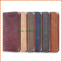 For iPhone iPhone5/5S/SE Retro Magnetic Wallet Stand leather Card Slot Business case