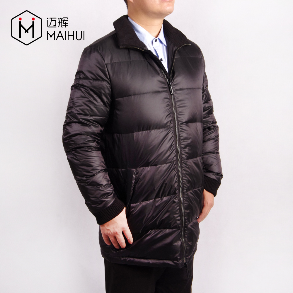 OEM Service Black Quilted Mens Jackets Winter Down Jacket Casual Down Clothing
