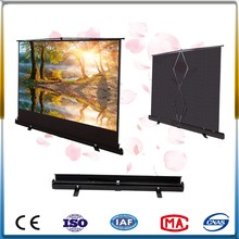 floor stand projector screen 100 inch manual portable screen