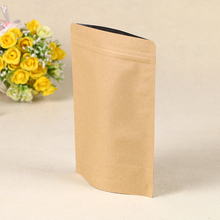China wholesale brown kraft paper bag for nut kraft paper zip lock bag