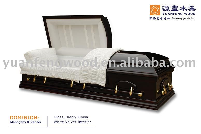 DOMINION plastic coffins and caskets coffin lowering device adult coffin
